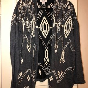 Lucky Brand embroidered cardigan